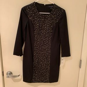 NWT French Connection embellished black dress